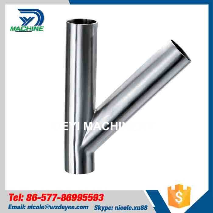 Stainless Steel Pipe fitting Y type Tee