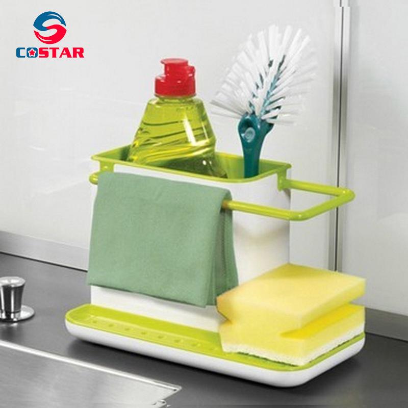 Draining Sink Tidy Sink Aid Organizer Brush Sponge Cleaning Holder Tidy Flower Type draining rack