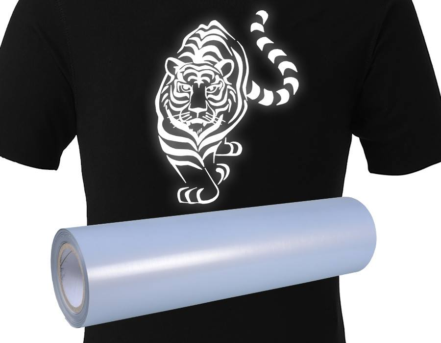 Flick glow in the dark heat transfer film