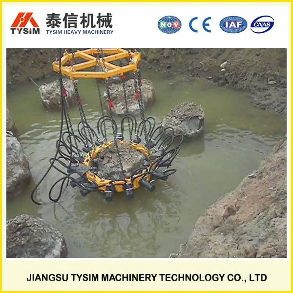 KP315A hydraulic pile cropper for Round Piles, mini pile crusher, excavator pile cutter