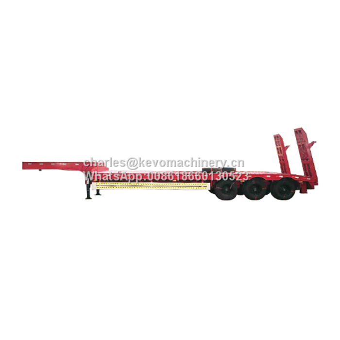 3 Axles 50tons Lowbed Semi Trailer