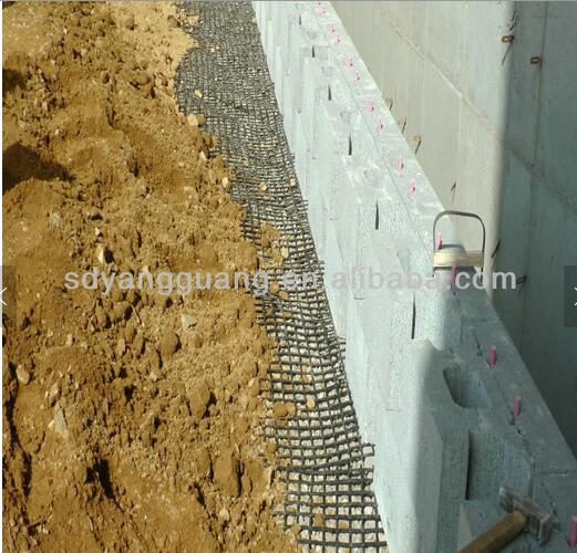 Polyester mesh pvc coated softbed soil reinforcement CE ISO approved