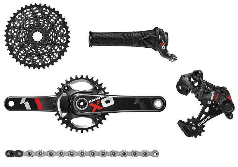 SRAM X01 BB30 RED Group Set - Gripshift with 32t Chainring - XO1 - 1X11