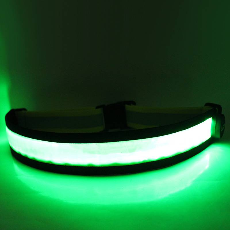 Safety Vest LED Reflective Belt Fully Illuminated USB Rechargeable and Highly Visible for Running, B