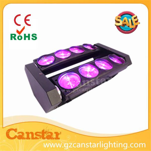HOT led spider light 8x10w RGBW 4 in 1