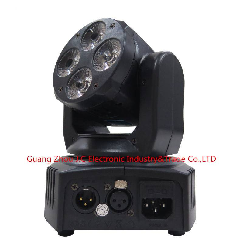 2016Newest 4PCS 10w RGBW 4in1 LED Mini Moving Head Light