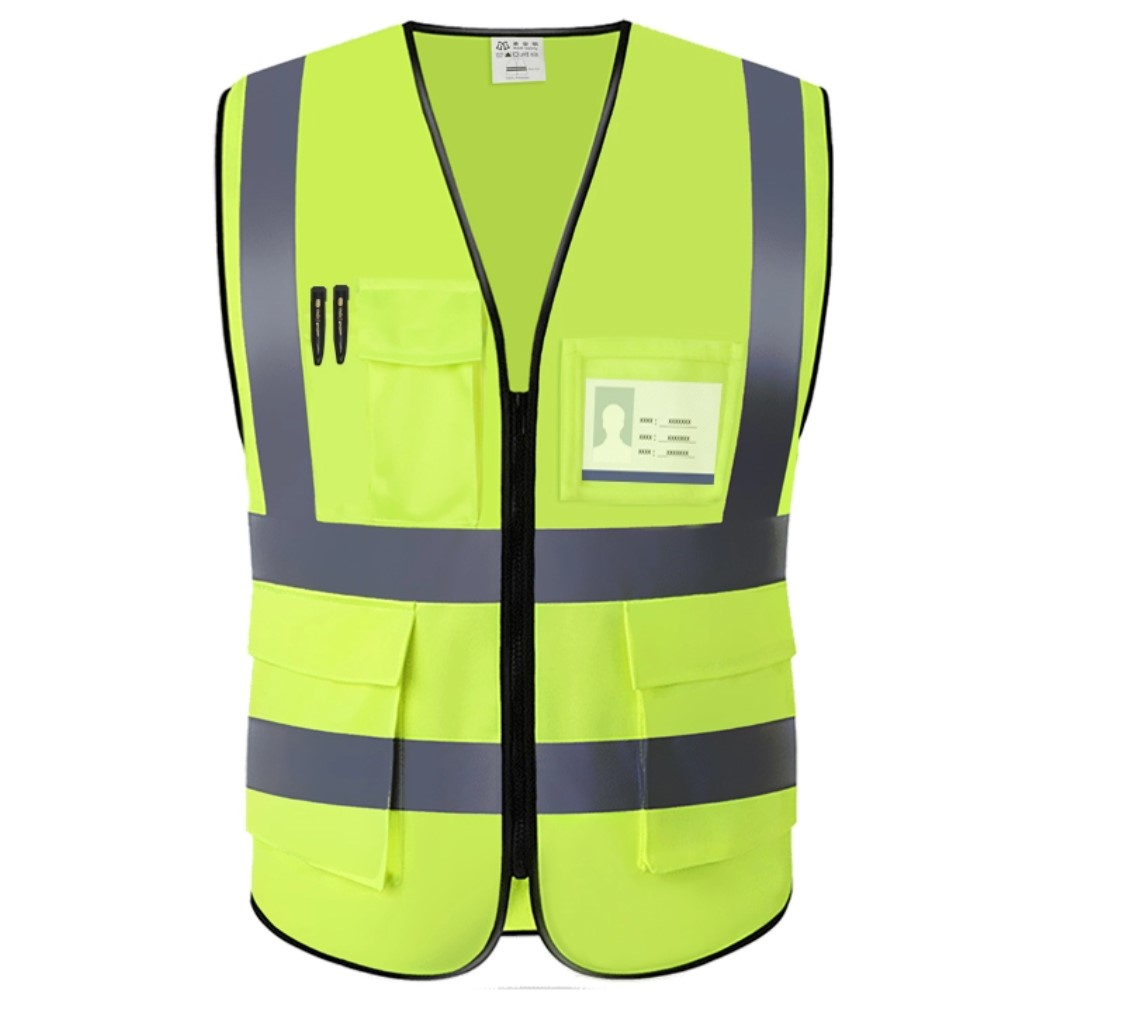 workwear construction safety vest with pocket