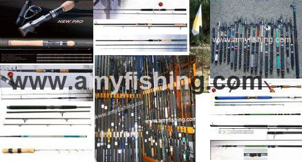 fishing rods, carp rods, spinning rods, boat rods, telescopic rods, bass rods, fly rods, pole rods,