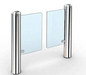 Slim modern design swing gate