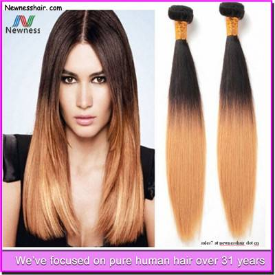 Alibaba Express Brazil 3pcs/lot Brazilian Ombre Body Wave Remy Hair Two Tone Color