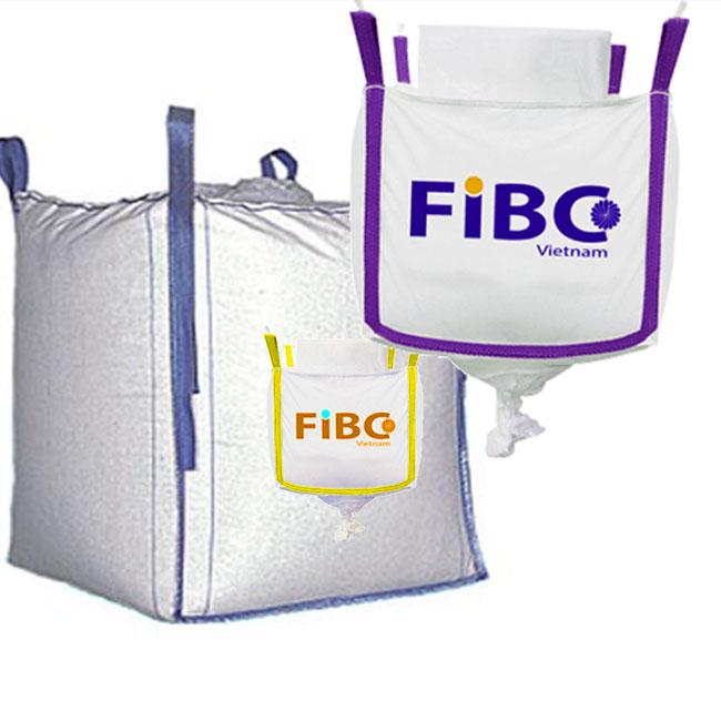 The bulk fibc bag in Vietnam 2000kg for transporting