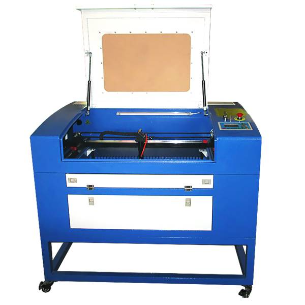 Co2 laser cutting machine 60W HT-460 for fabric with CE/FDA