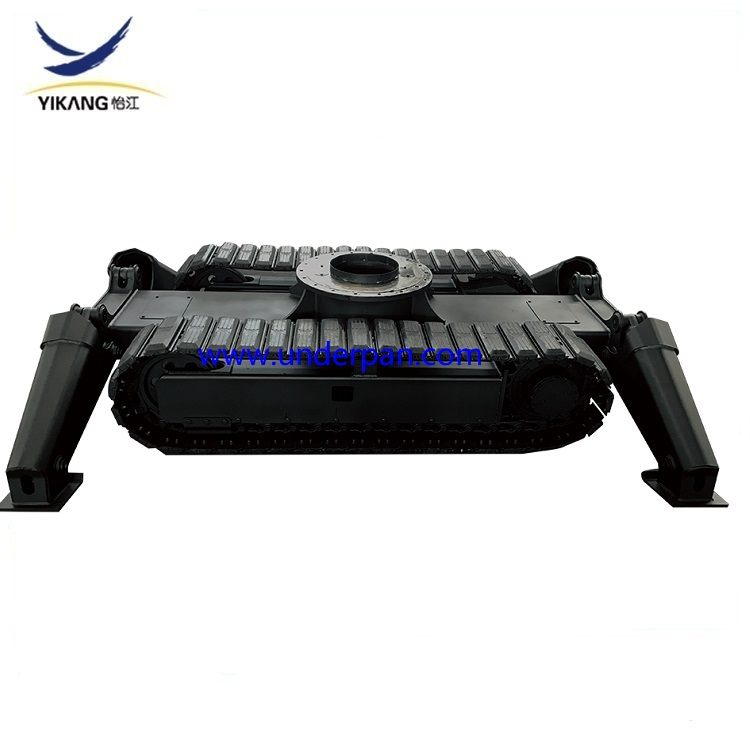 Underwater robot steel track undercarriage with slewing bearing