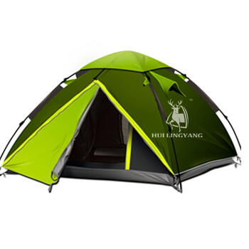 Double layer waterproof automatic pop up tent H05