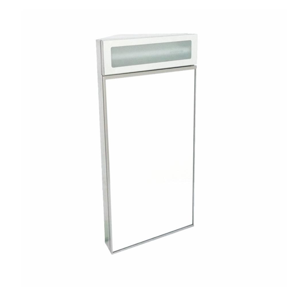 Marine corner mirror cabinet