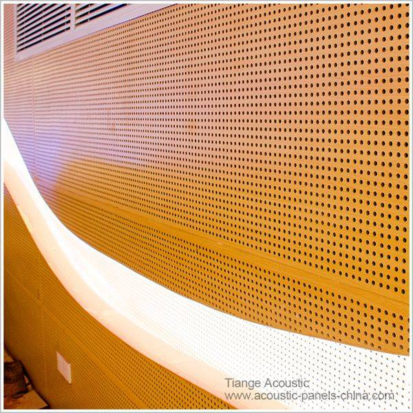 2016 Hot sale perforated decorative sound absorption mdf wood panels