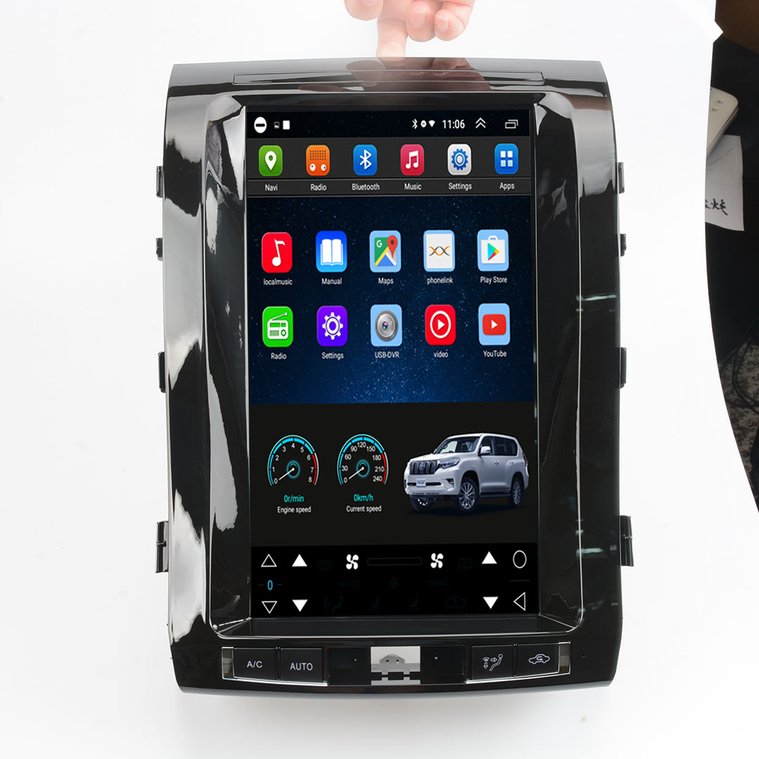 Vertical Screen 13.8 Inch Android Car Multimedia Navigation For Toyota Land Cruiser 2008-2015