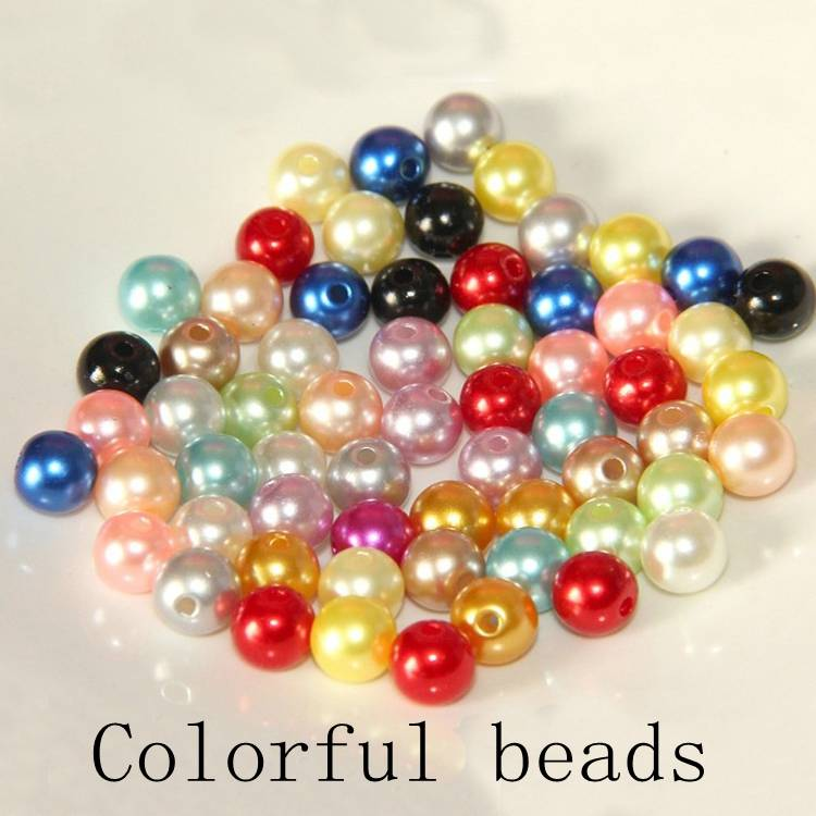 abs colorful beads, diy necklace ring earning pendants charm