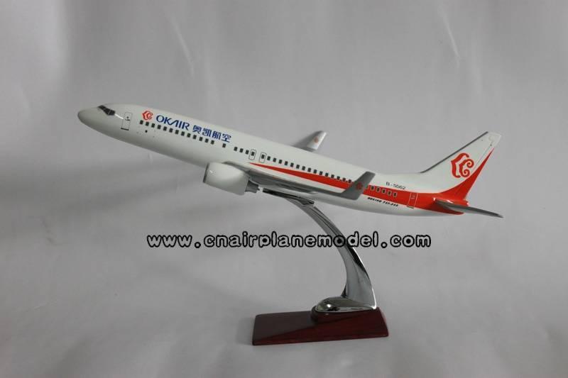 resin airplane model B737-800 OK Air 40cm
