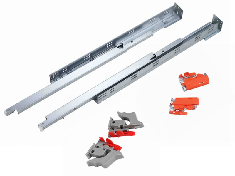 American type undermount drawer slide with soft close