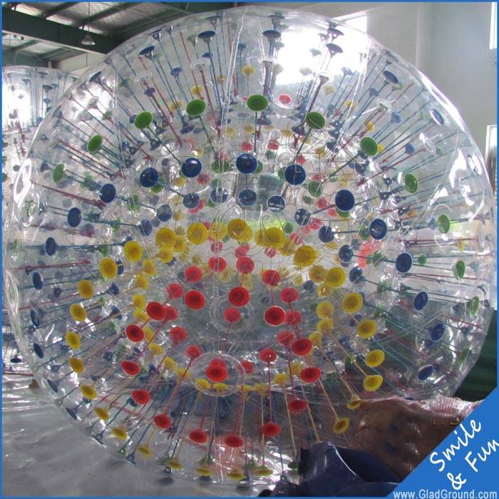 Size 2.5/1.7m inflatable zorb ball with TPU 0.8mm for sale