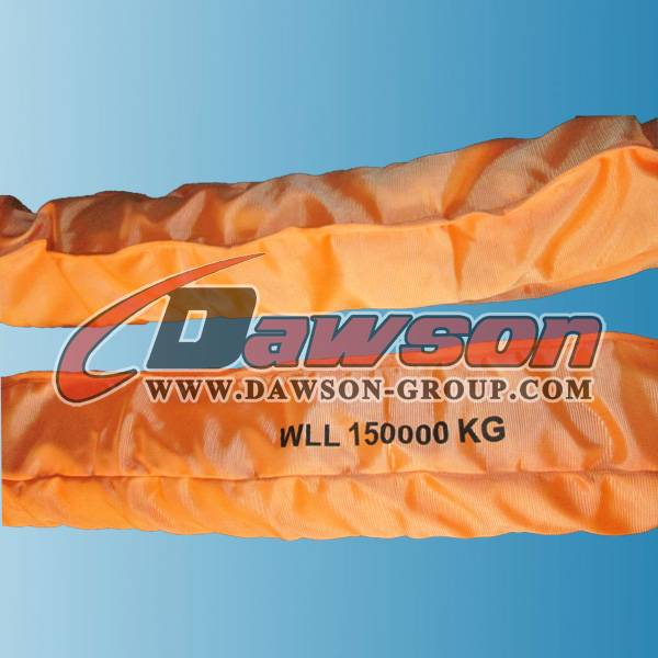 WLL 150Ton Heavy Duty Polyester Round Slings
