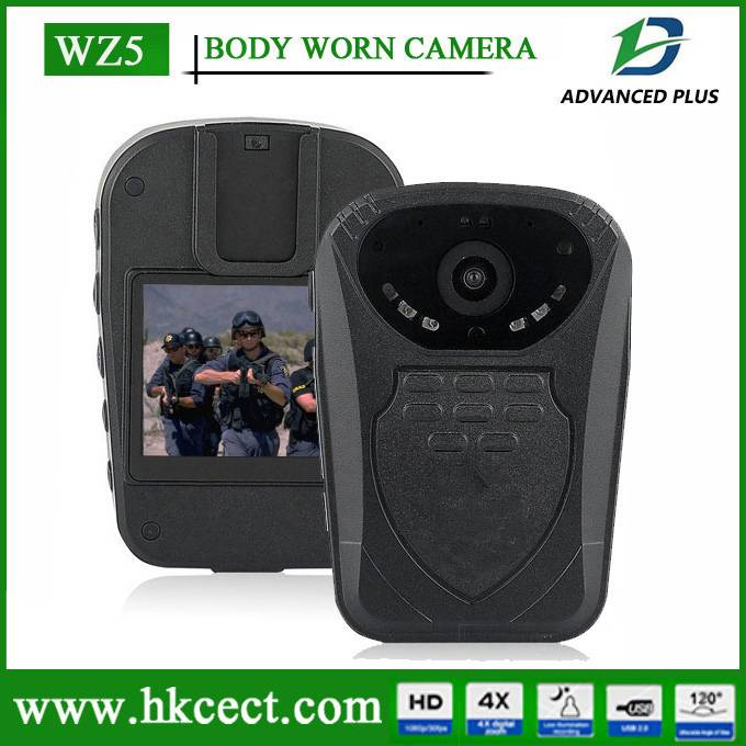 WZ5 auto night-vision focus when recording IP56 Waterproof Police body worn camera DVRni gift digita