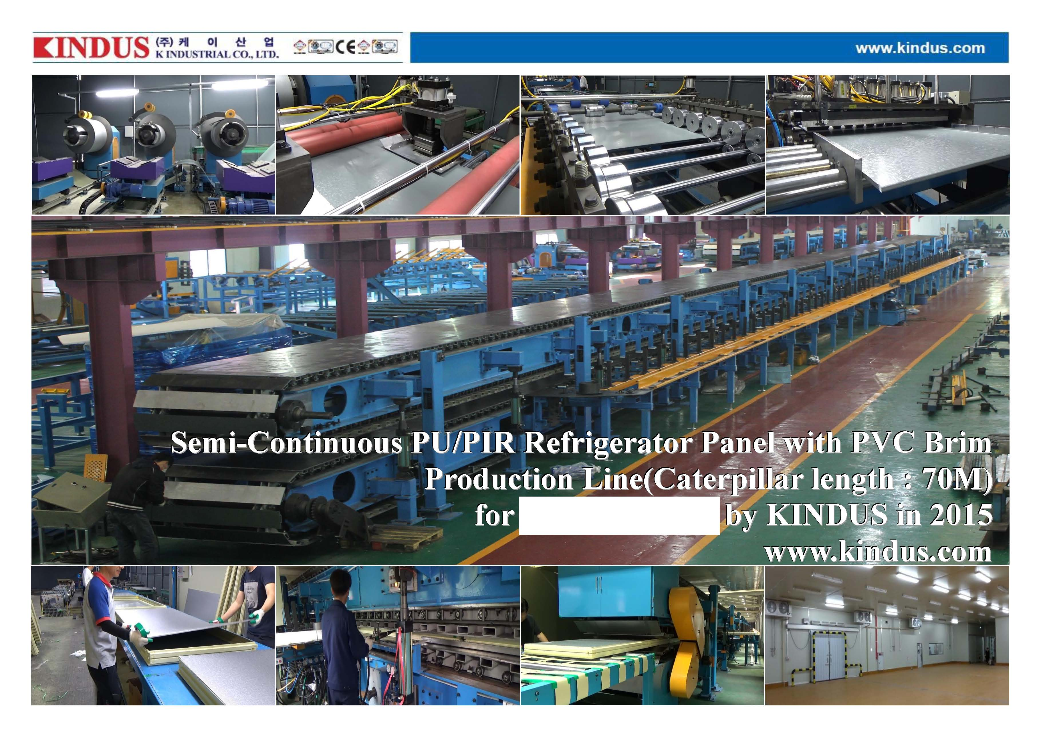 Semi-Continuous PU & PIR sandwich panel line