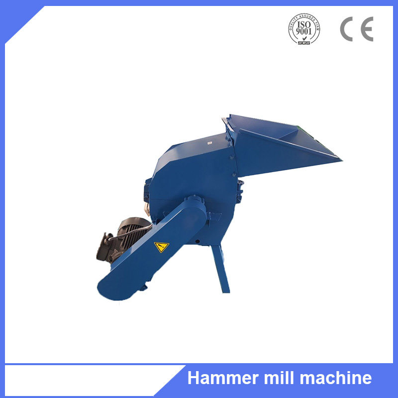 Family use wood waste logs branch crushing hammer mill machine
