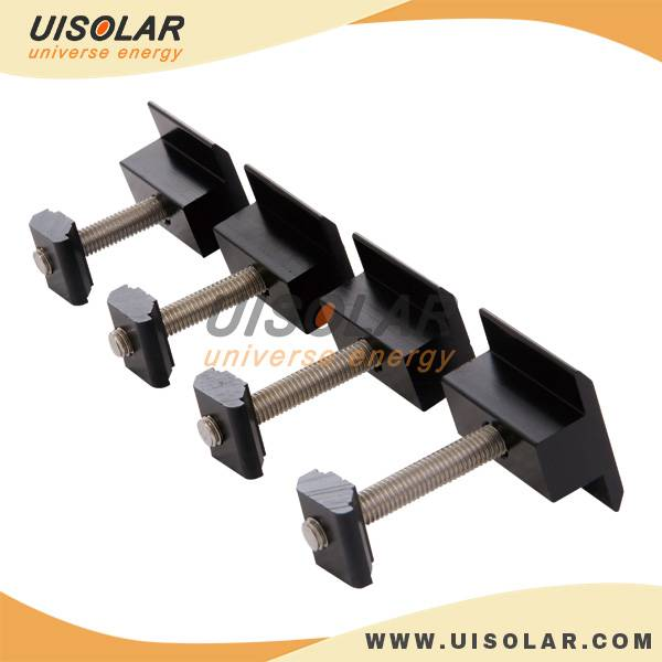 aluminum solar black mid clamp
