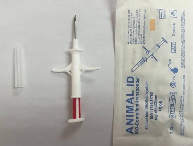 Pet Cat Dog id microchip transponder syringe 1.4*8mm