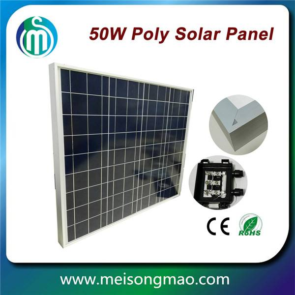 Small solar module poly solar panel 50W 18V for street light use