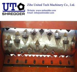 Single Shaft Shredder S40150for tyre, plastic, wood, metal, cable, paper crusher recycling