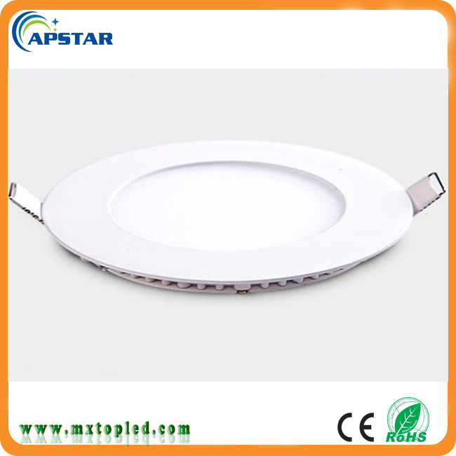 2017 china smd recessed round led panel,6w 12w 18w slim round led panel light