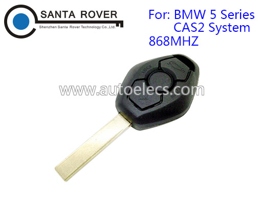 Automotive Car Key For BMW 5 Series CAS2 Straight Remote Control 3 Buttons 868Mhz HU92 Blade
