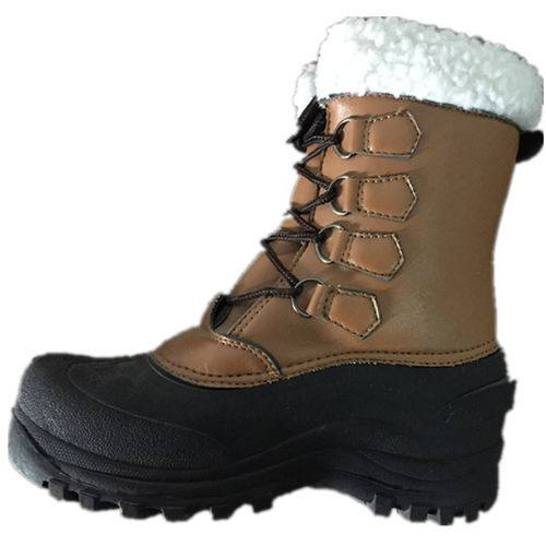 Fashion leather snow boots with TPR outsole