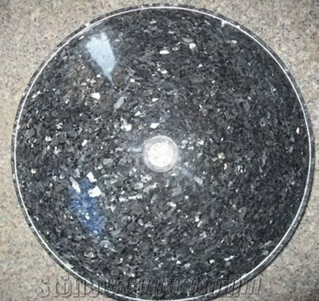 Blue Pearl Granite Round Sinks, Vessel Sinks, Wash Bowls,Blue Sinks&Basins