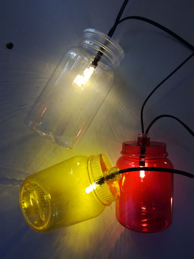 clear bottle battery light string
