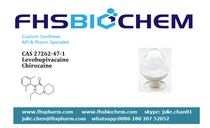 GMP Quality Safe Delivery Levobupivacaine Ingredients,Chirocaine Powder CAS 27262-47-1