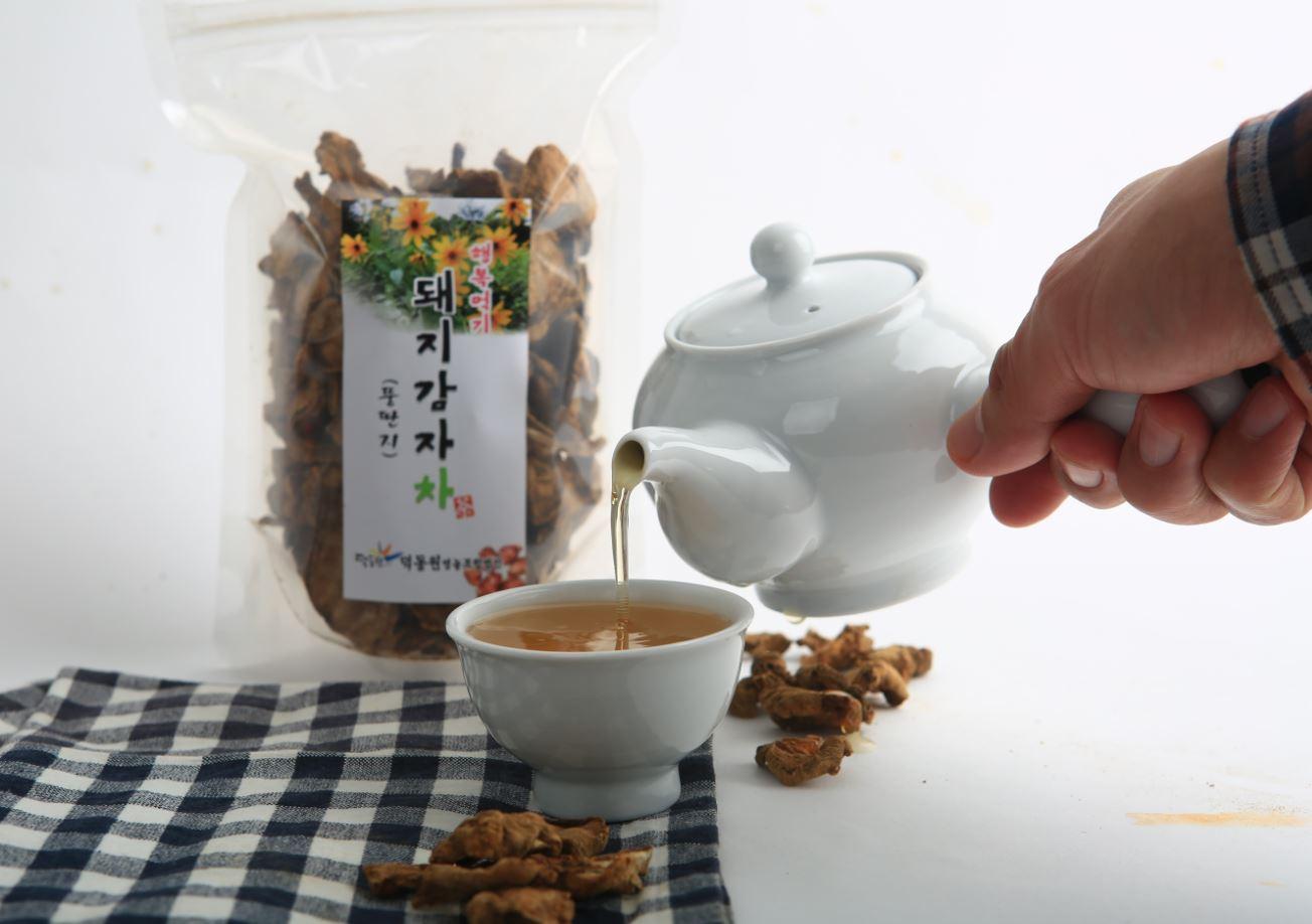Suncheonman Bay Deokdongwon sunchoke tea