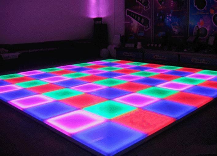 Led sensor floor