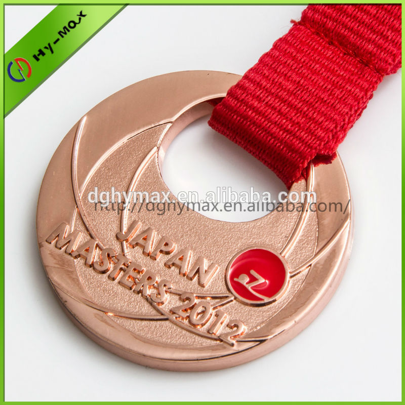 competition award metal medal with ribbon