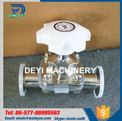 Stainless Steel Hygienic SS316L Two-part Diaphragm Valve