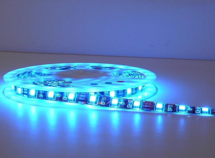 48led/m non waterproof IP43 Brown PCB 5050 blue led light strip