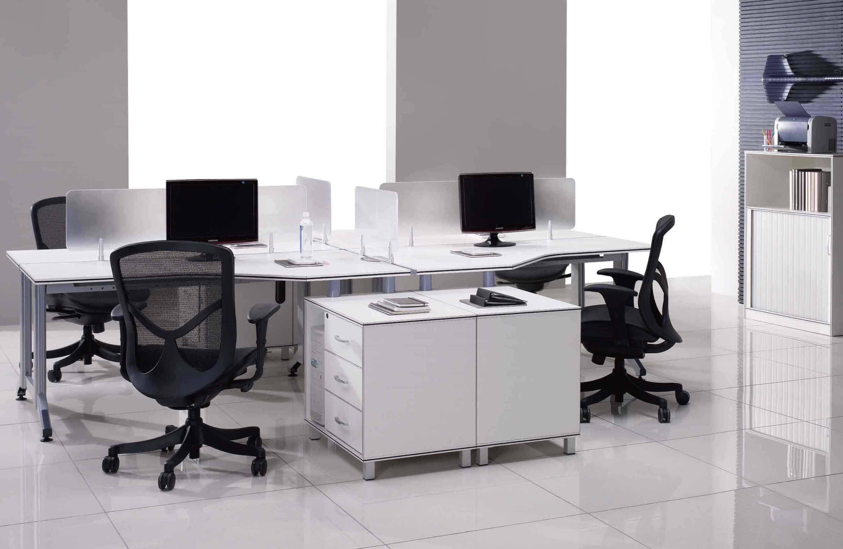 ML10-4X Melamine Office Furniture 3200*3200*1110