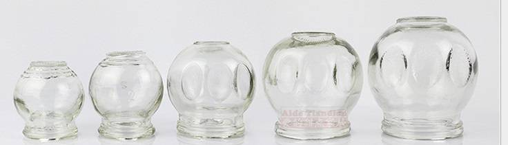 New Easy Grip Strong Glass Cupping Jars with Finger Grips Design