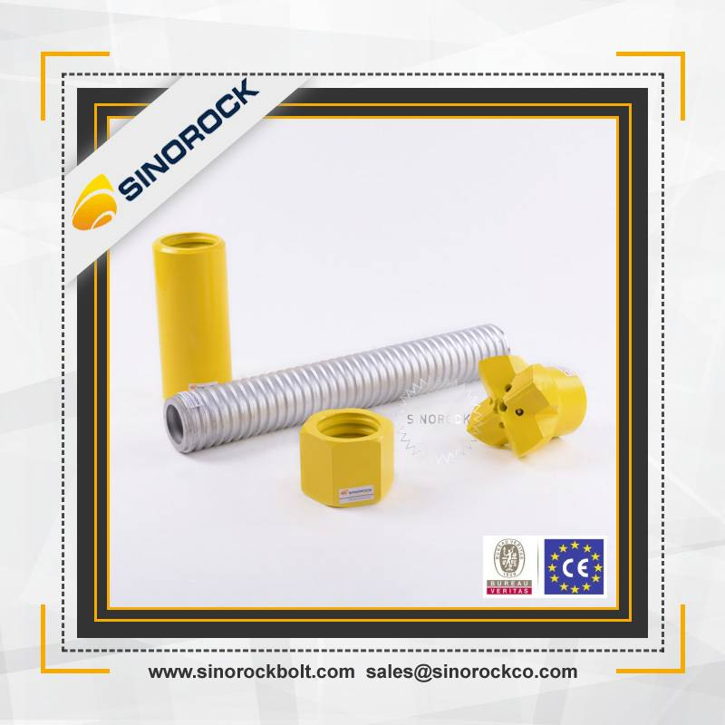 Sinorock mining self drilling hollow threaded rod