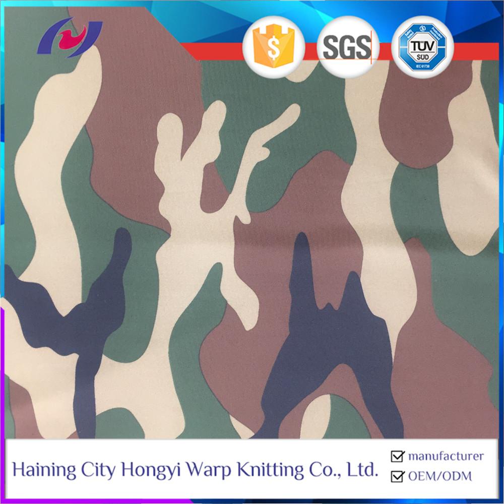 Camo Print 88 Polyester 12 Spandex Heavy Duty Stretch Fabric For Leggings
