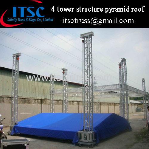 lighting roof truss system 10x8x6m