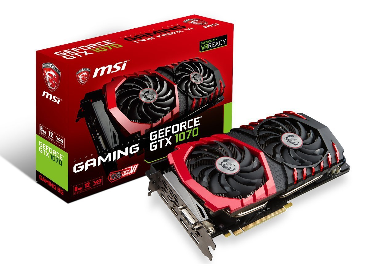 MSI Gaming GeForce GTX 1070 8GB GDDR5 SLI DirectX 12 VR Ready Graphics Card